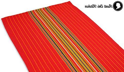 Kitchen Dish Stripe - 100% Natural Absorbent Orange, Green 12-Pack