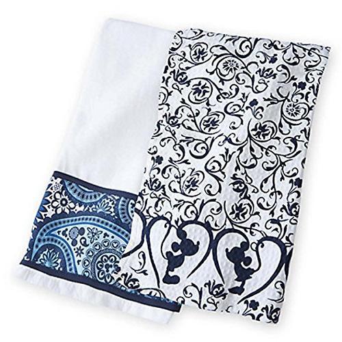 Disney Parks Mickey Mouse Icon Indigo Kitchen Towel Set