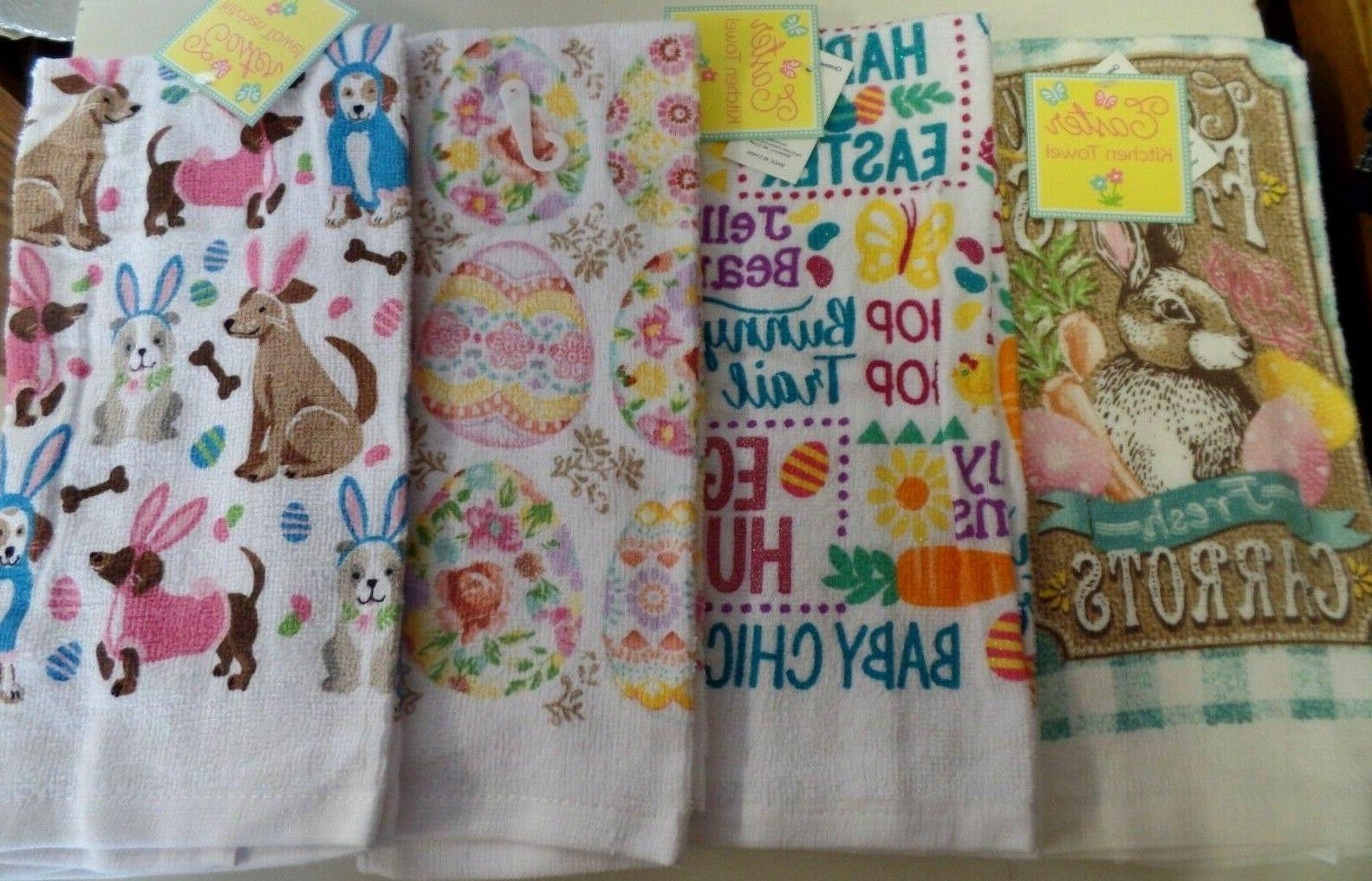 easter kitchen hand towels