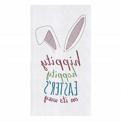 Easters on its Way Flour Sack Kitchen Towel