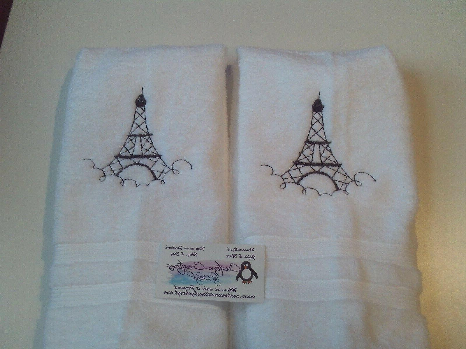 Eiffel Paris Hand Towels Paris