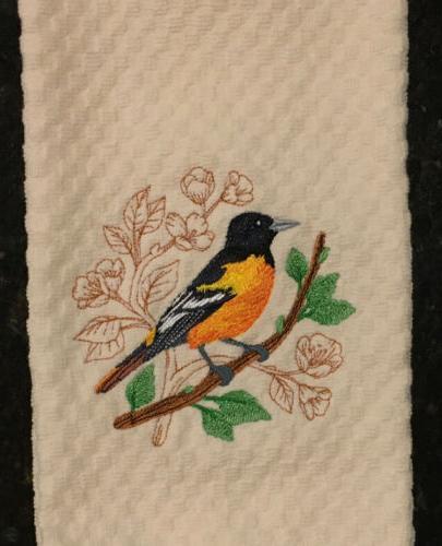 Oriole Bluebird Kitchen Towels