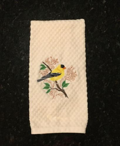 Oriole Bluebird Goldfinch Kitchen Towels