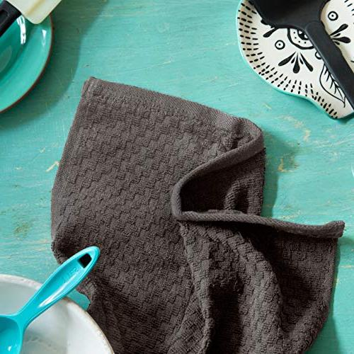 Cotton Craft Pack - Euro Cafe Towels - - Charcoal - 400 GSM - Ringspun 2 - Absorbent Low Lint - Multi Purpose