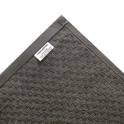 Cotton Pack Waffle Weave Terry Kitchen Towels 16x28 - Charcoal - GSM - Ringspun 2 - Absorbent Lint