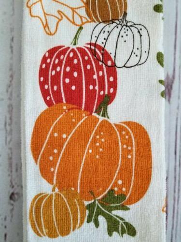 Fall Pumpkins Kitchen Towel