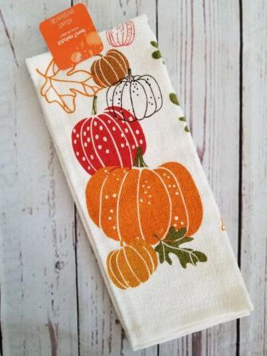 fall autumn pumpkins towel