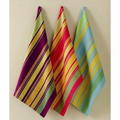 fall jardin stripe kitchen towels