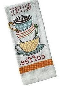 Nidico But First, Coffee Theme Kitchen Towel Set