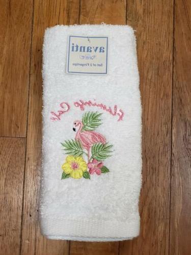 flamingo cafe hand towels bathroom kitchen soft