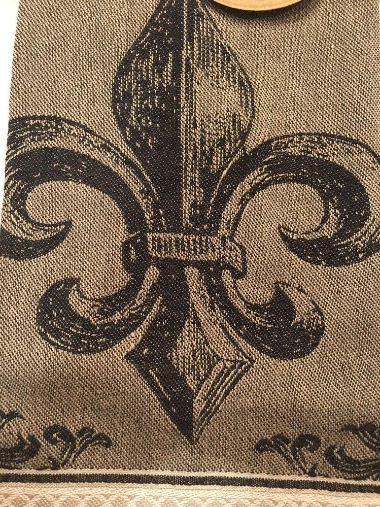 Dii Fleur De Lis Kitchen Towel Beige Decor