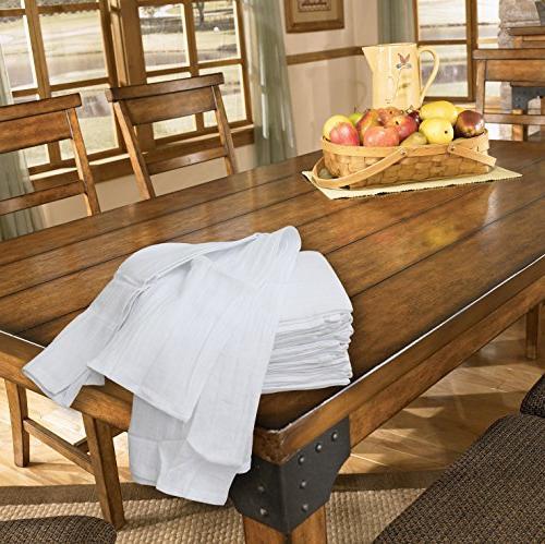Excellent Deals Flour Sack Kitchen Towels Cotton 28 Inches Napkins, Purpose Kitchen Towels
