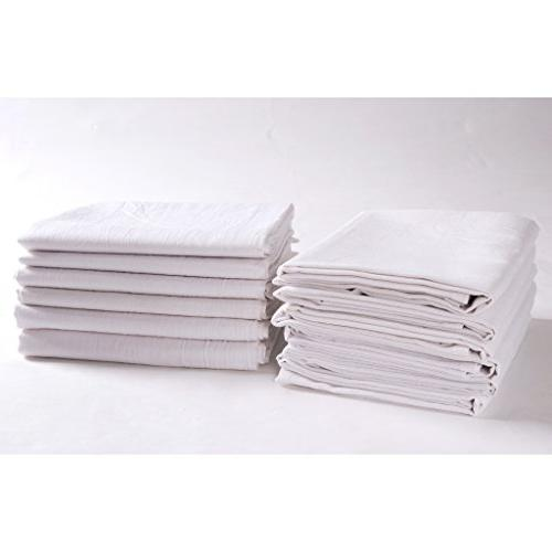 KAF Home 12 White Sack / Chef Towels, Extra
