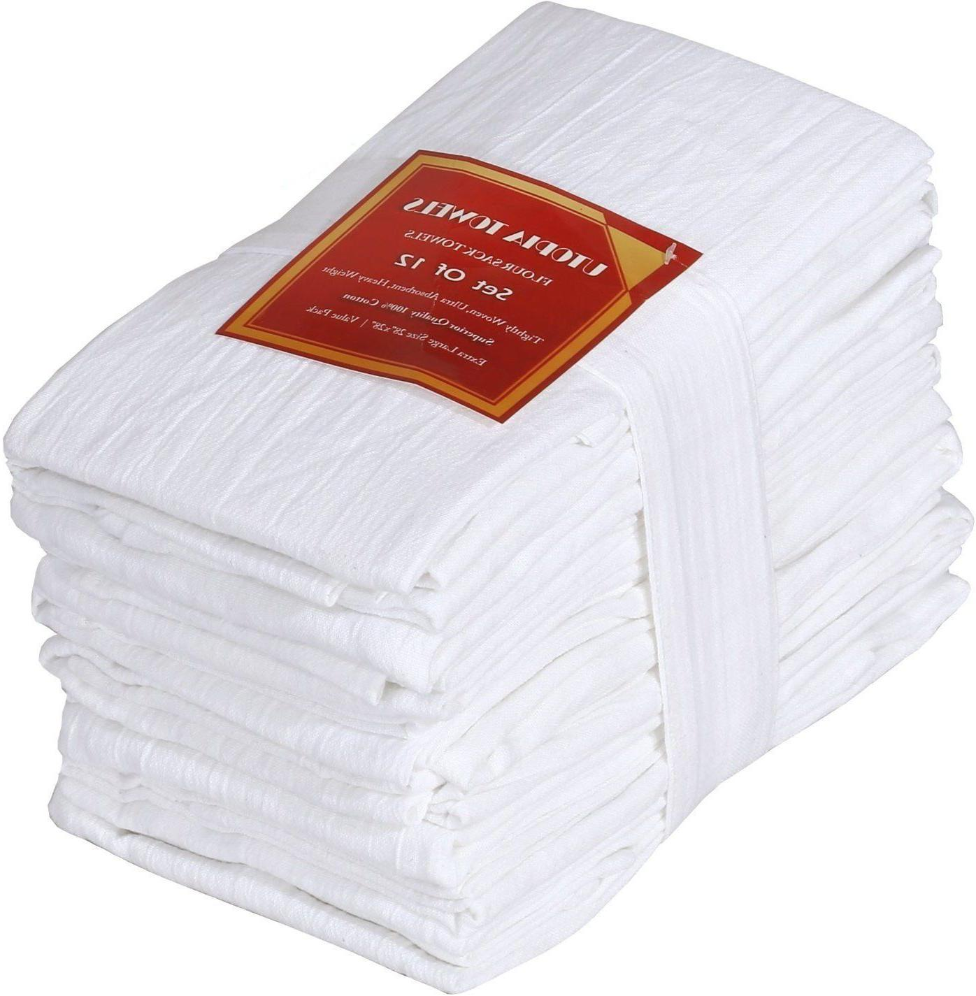 flour sack towels cotton absorbent 12 pack