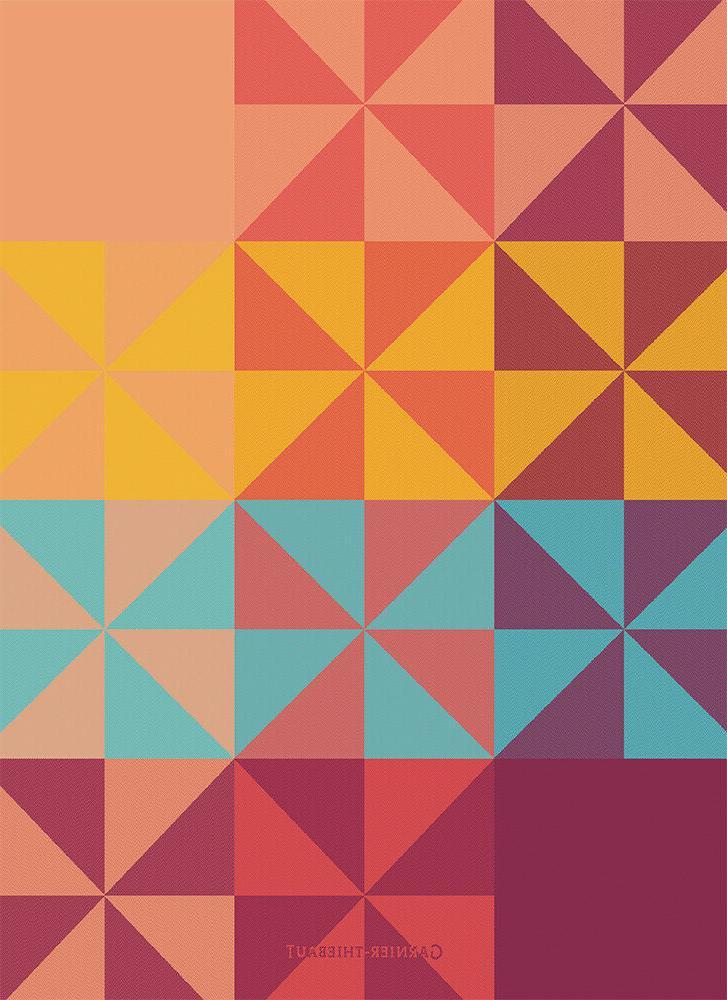 Garnier Thiebaut Kitchen Tea Towel French Prism Geometric Mi