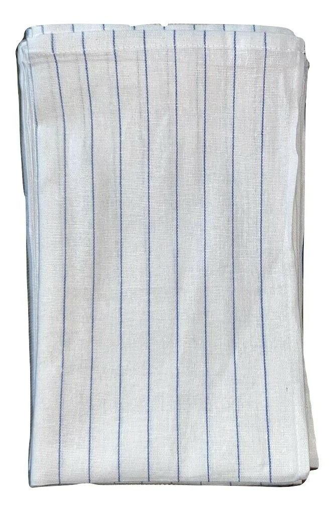 Glass Towel 12-24 Tea Kitchen Swedish Blue Stripe
