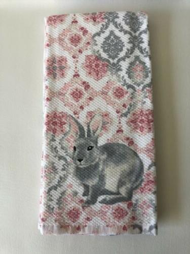 Casaba Easter Bunny Medallion Dish Towels
