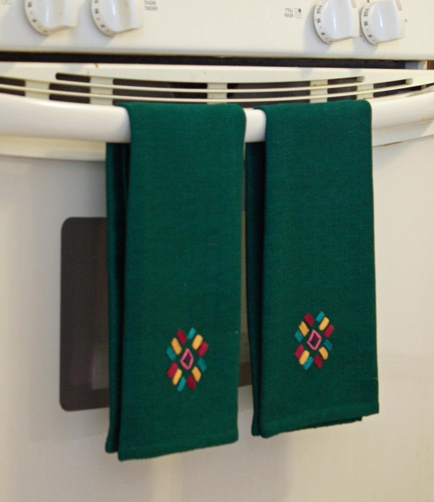 Woven Kitchen Towels Green of 2