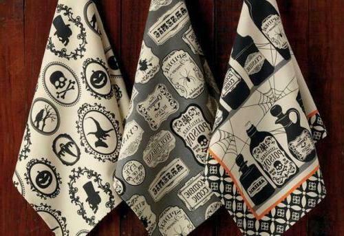 halloween hocus pocus printed kitchen towels set