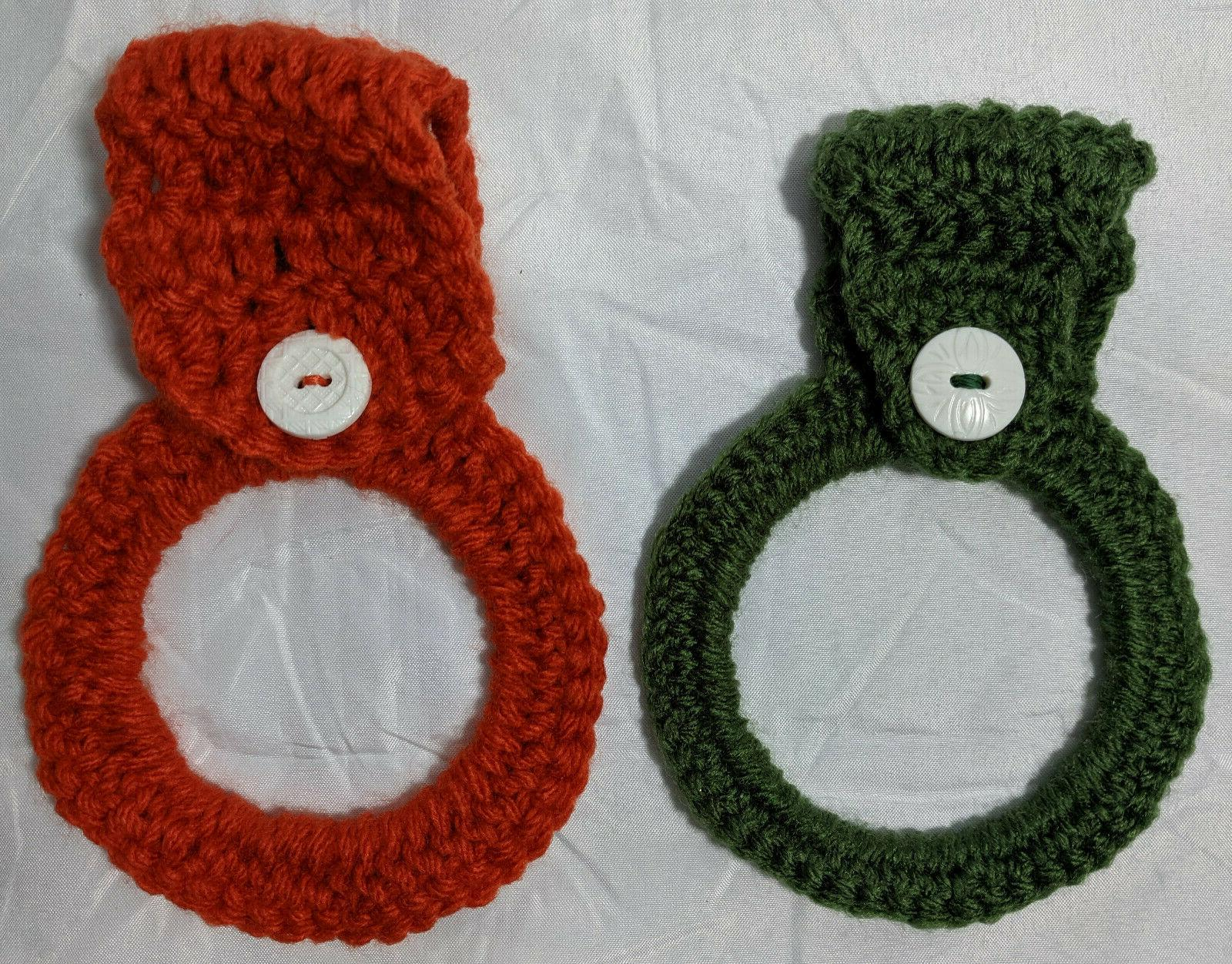 Hand Crocheted Kitchen Hand Towels From