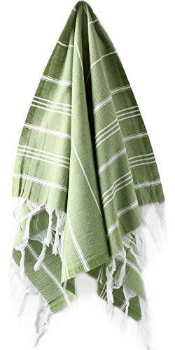 "Hand Face Turkish Towel Pestemal 23x36"" Peshtemal Fouta  Kit"