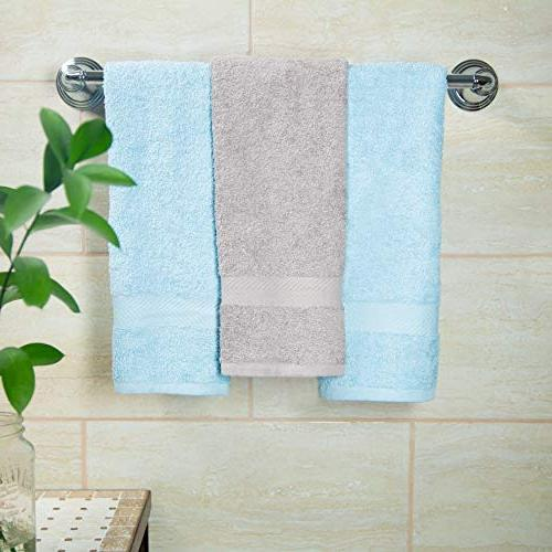 Cotton Pack Multi Color Towels - 100% Ringspun Cotton Light Weight 450 - Highly Absorbent Colors - Ivory, Blue, White,