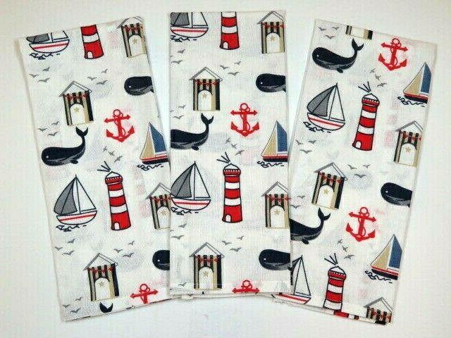 hand towels dish nautical themed linen towels