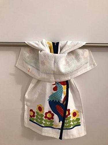 Hanging Kitchen Terry Tie Towel Never Falls Off 100 Cotton No