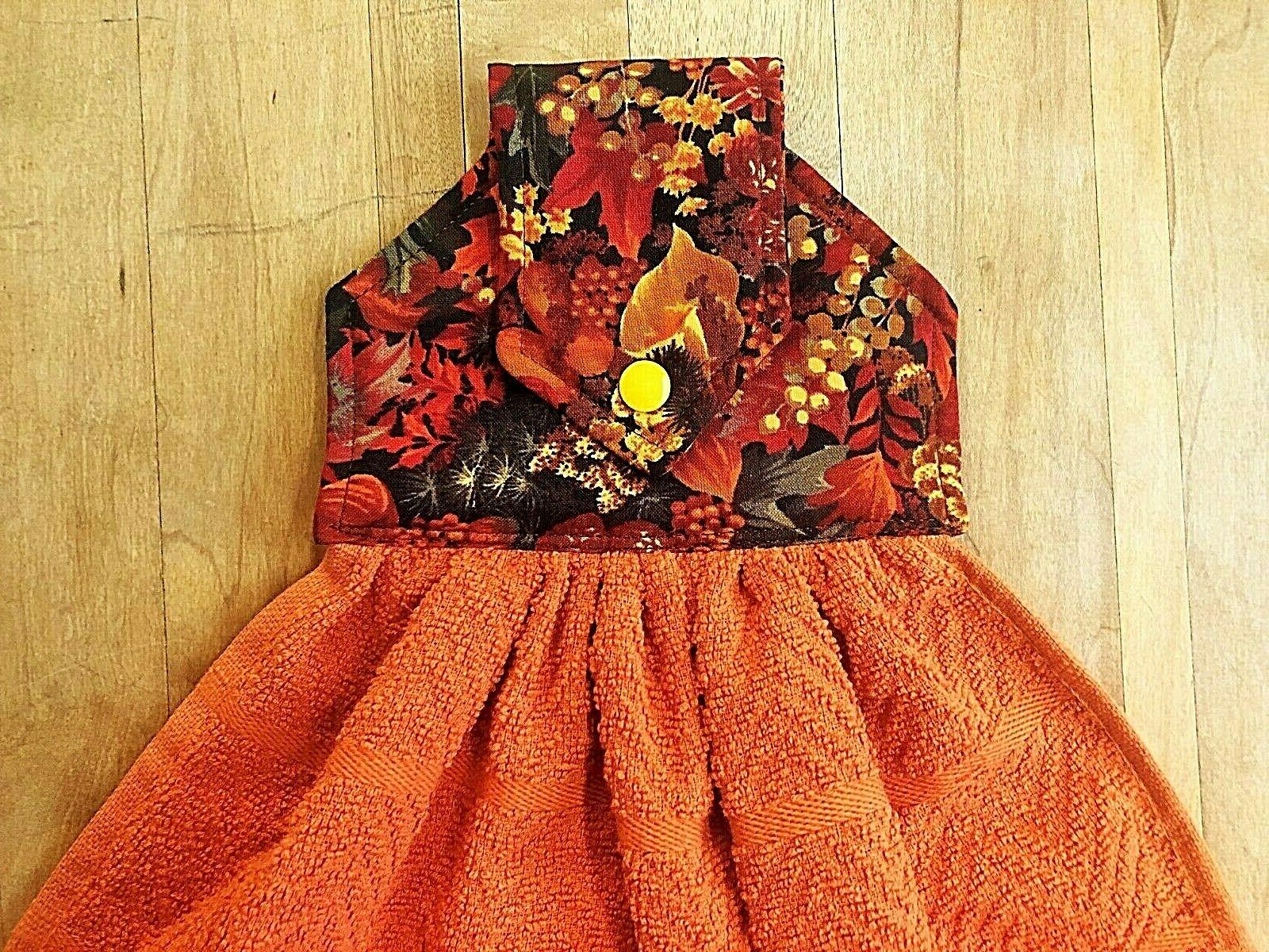 Harvest Fall Hanging Orange Towels,