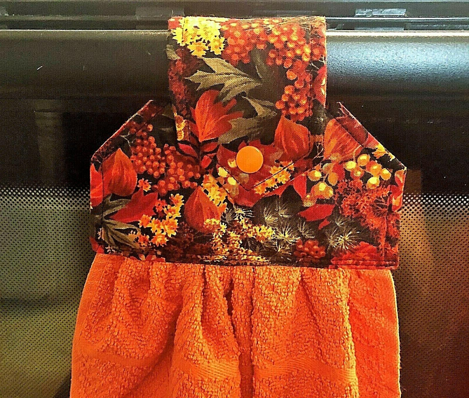 harvest autumn fall theme hanging kitchen towels