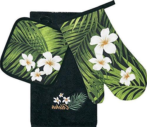 hawaiian kitchen set dish towel