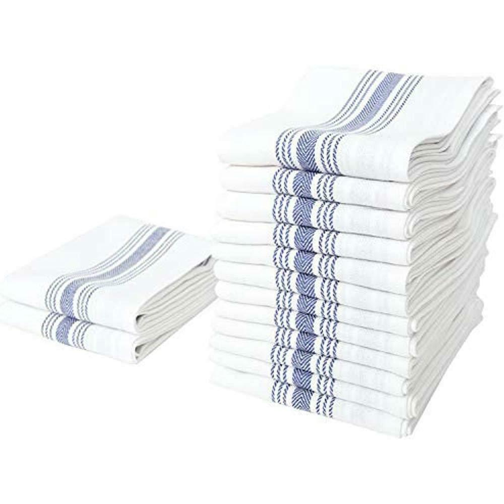 herringbone stripe kitchen towel set