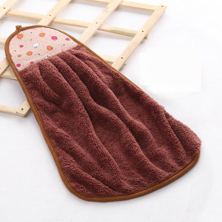 Home Hanging Towel Coral Cleaning Soft Towels