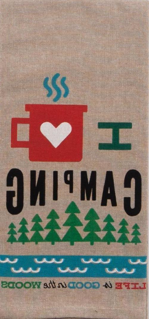I HEART & HAPPY CAMPER Set of 2 by