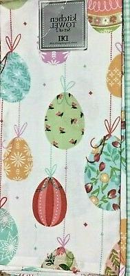 DII KITCHEN TOWEL  EASTER EGGS  BLUE GREEN RED YELLOW PURPLE