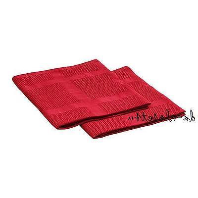 "IKEA IRIS Red towels w/ Loop 100% Cotton 20x28"""