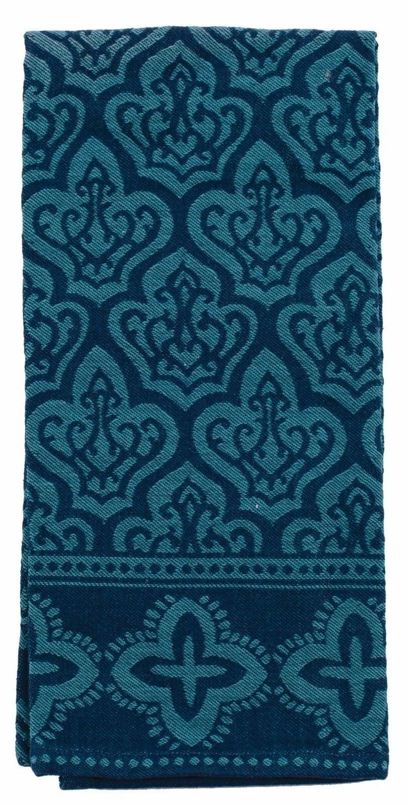 Kay Dee Designs Jacquard Tea Towel Indigold XL Cotton 18x28