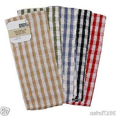 JUMBO CHECKED TERRY KITCHEN TOWEL,DISH,TOWELS,TERRY CLOTH,LA
