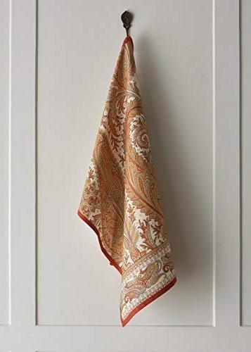 Maison d' Hermine Kashmir Paisley 100% of 2 Towels 20 Inch.