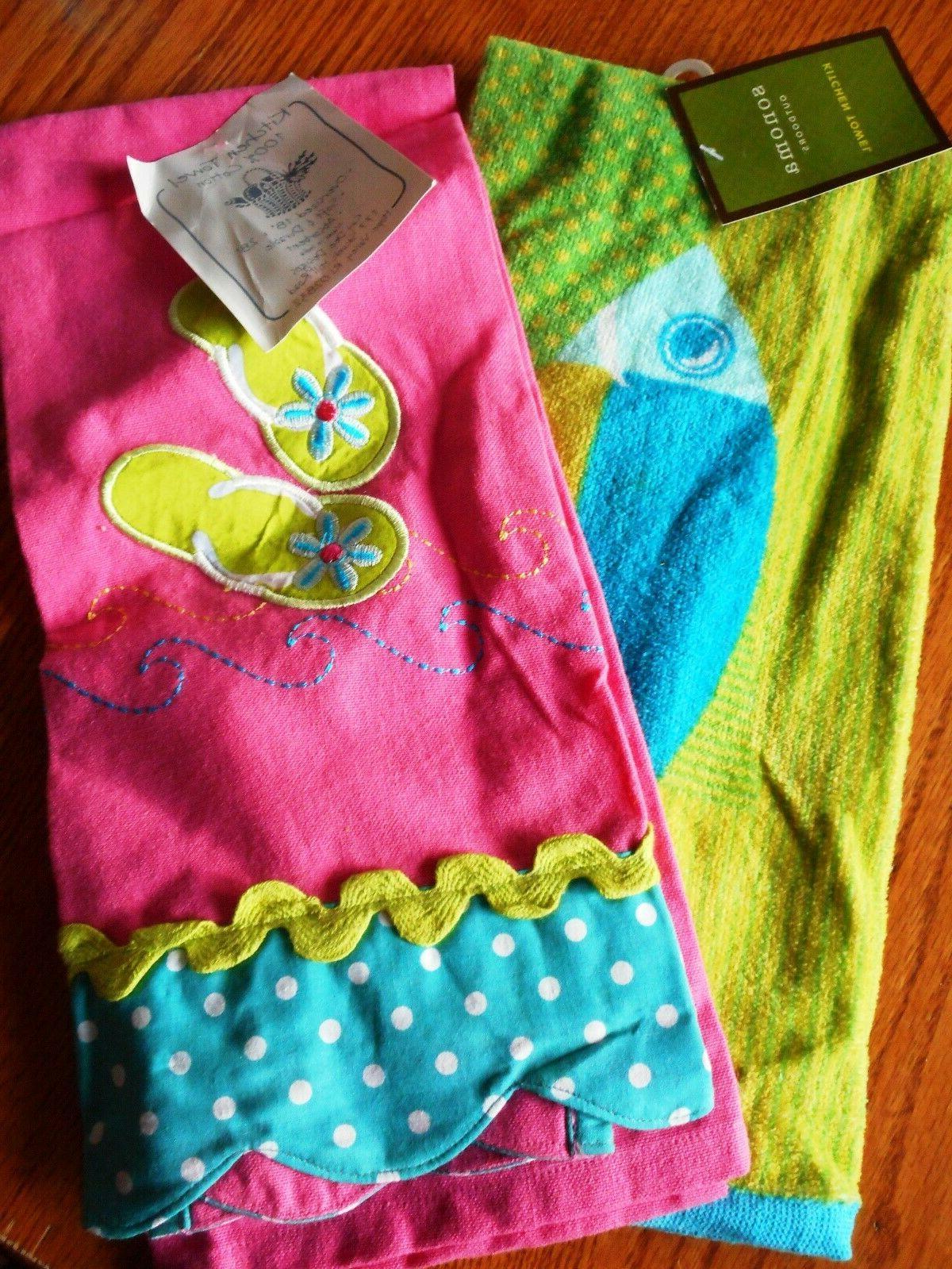 Kay Set/2 Summer Flip Flops Fish Hand