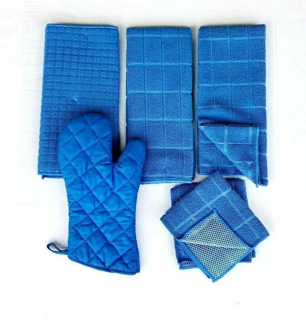 Kitchen Towels 2 Dishcloths Mat Oven Color
