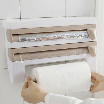 Kitchen Dispenser Film Towel Holder Mount