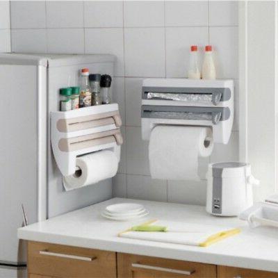 Kitchen Film Tin Foil Towel Rack Mount