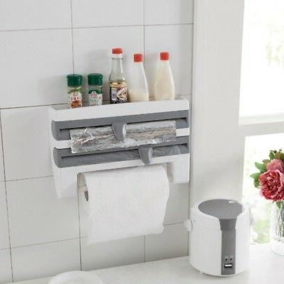 Roll Cling Cutter Spice Rack Wall