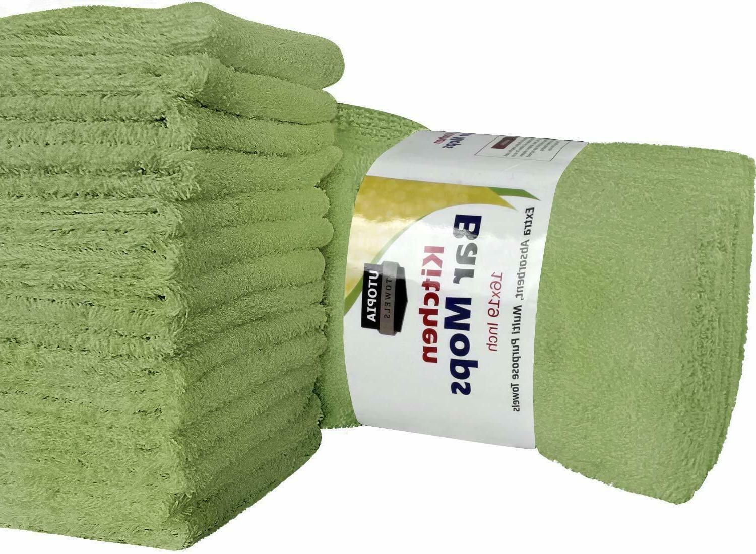 12 Towels Cleaning Cotton Utopia