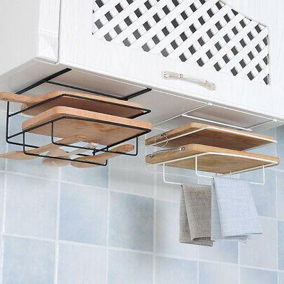 Kitchen Cabinet Wall Hanging Iron Holder Clean Towels Racks