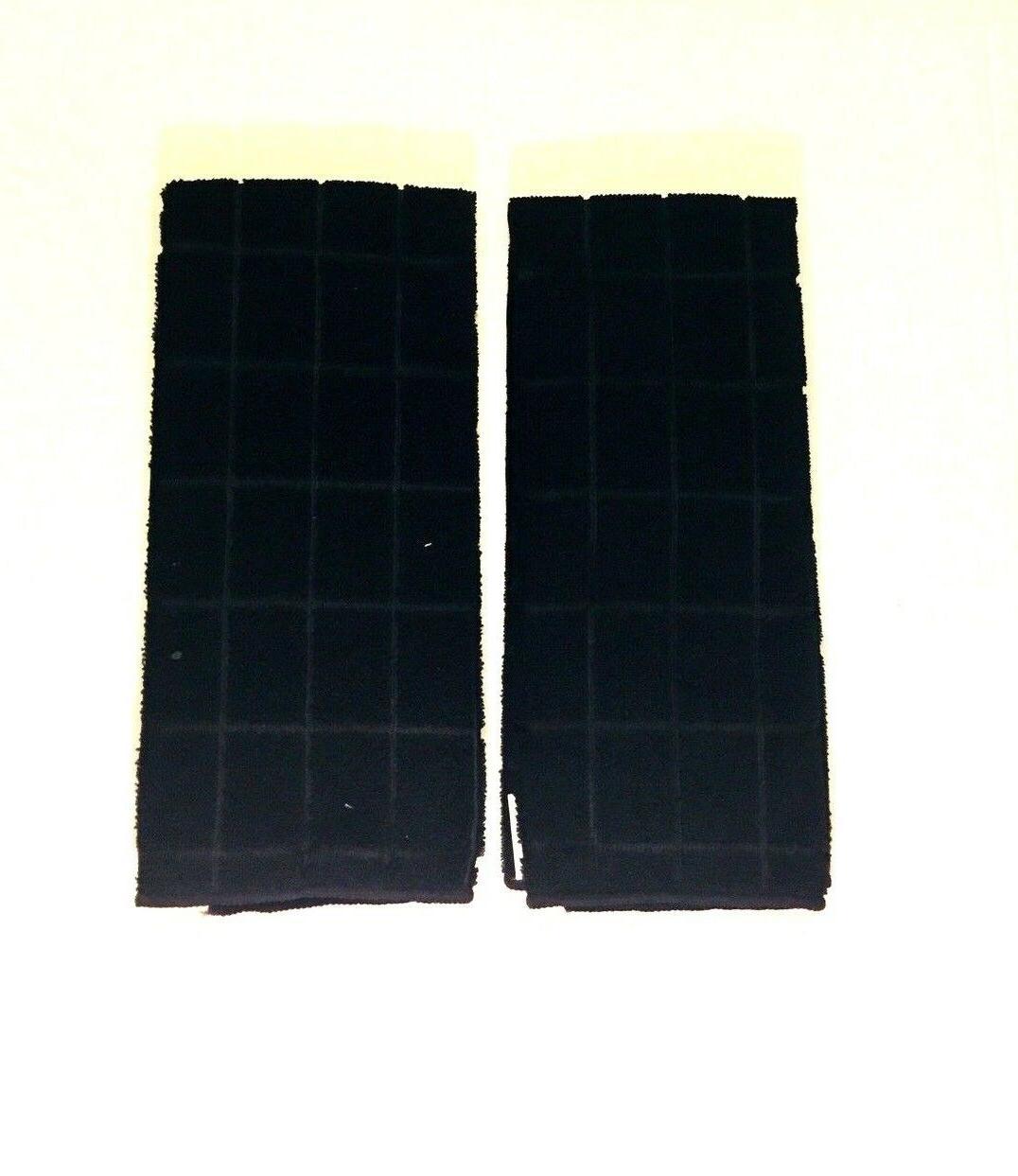 kitchen dish hand towels black solid color