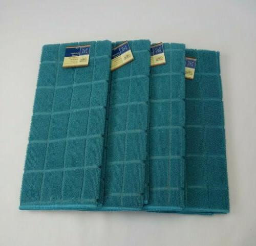 Kitchen Dish Hand Towels Brand New Solid Turquoise Color- Se