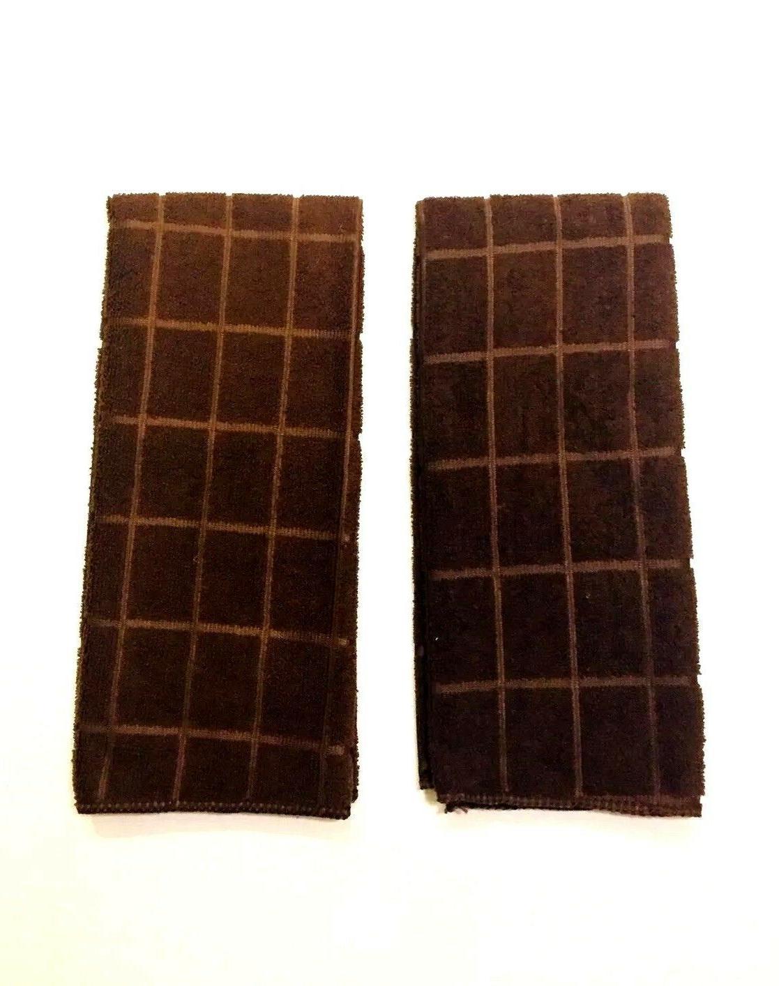 kitchen dish hand towels solid dark brown