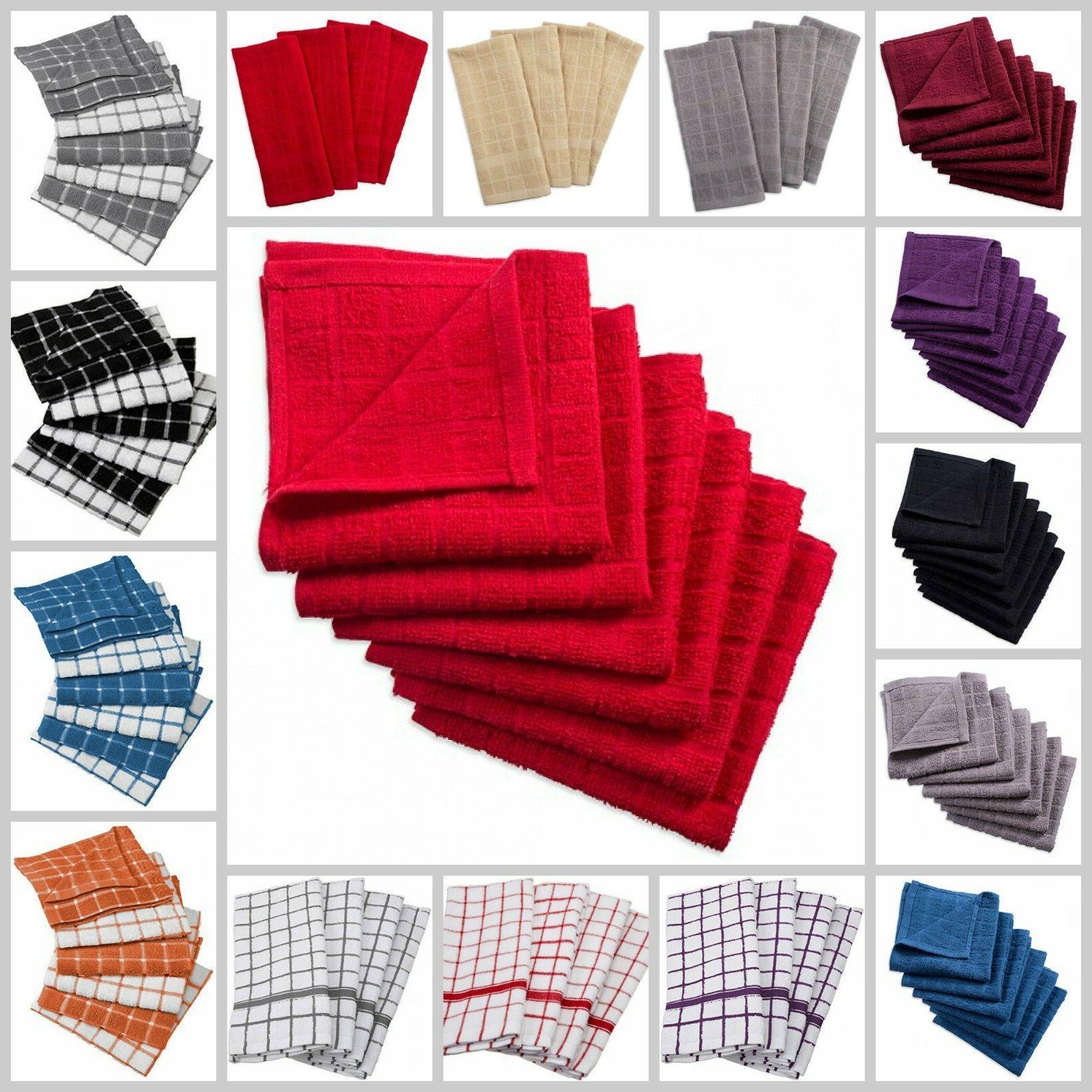 kitchen dish towel set everyday basic deluxe